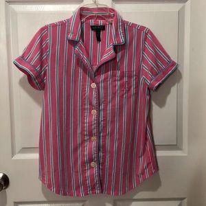 Ralph Lauren Womens Short Sleeve Short PJ Set L